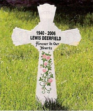 """Memorial Cross 16.5"""" Roadside Memorial Remembrance Cross,White"""