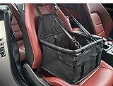 Transporteur de siège de voiture d'animal familier - sac portatif et respirable de propulseur de voiture pour le chat de chat jusqu'à 25LB (Noir)