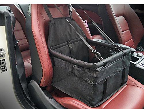 Cani Auto posto a sedere Carrier - Car Booster Borsa portatile e traspirante per cani da compagnia fino a 25LB (Nero)