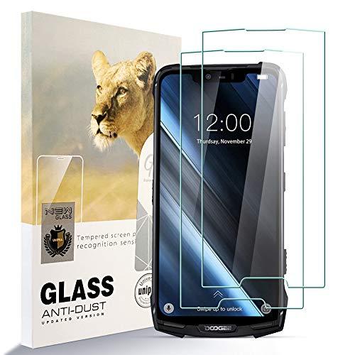 Asoway Displayschutzfolie Panzerglas für Doogee S90C [2er Pack] HD-Hartglasfolie Anti-Fingerabdruck Blasenfrei Leicht zu Installieren, 9H Härte Glasschutzfolie Schutzfolie fürDoogee S90C