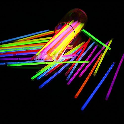 Generieke V_GS-Mix 20,32 cm sticks pakken armbanden kettingen neon licht fluorescerend 50 stuks fun party accessoires meerkleurig