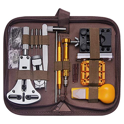 OVBBESS Kit de Herramientas de ReparacióN de Reloj de 149 Piezas Caja del Removedor de Clavija de Enlace de Reloj Kit de Herramientas de ReparacióN de Removedor de Barra de Resorte Abridor