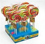 Piruleta Artesana Luna La Asturiana - Espectacular piruleta multicolor, 100% artesana y calidad gourmet, sin gluten, en cajas de 40 unidades de 50 gramos cada una (2.000 gramos)