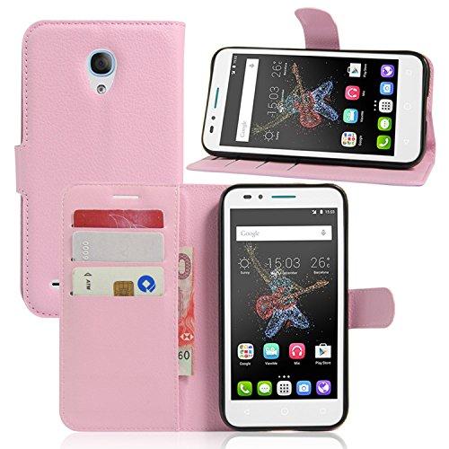Guran® Funda de Cuero Para Alcatel OneTouch Go Play Smartphone Tirón de la Cubierta de la Función de Ranura Tarjetas y Efectivo Caso