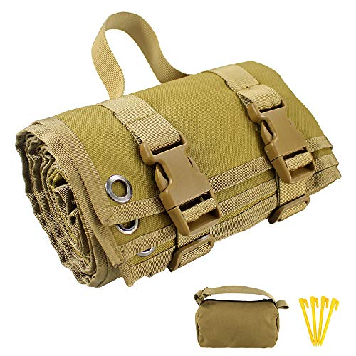 Depring Non-Padded Shooting Mat Molle Roll-up Shooter Range Pad with