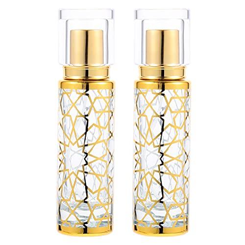 FRCOLOR 2 Piezas de Botella de Perfume de Cristal 32Ml Botella de Aceite Esencial Recargable Botellas de Perfume Vacías de Vidrio de Aerosol Recargables Botellas de Spray de Niebla Fina