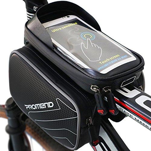Xboze ZXC-002, Borsa Impermeabile Per Telaio Bicicletta, Unisex - Adulto, Nero