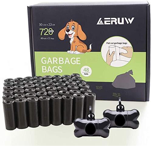 YITUMU Dog Poop Bag, 720er extra dicke und starke Poo Bags, garantiert auslaufsicher, Pet Waste Bags mit 2 Spendern 48 Rollen, jede Dog Bag misst 30 x 20 cm.