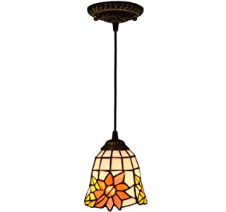 6 Inch Sunflower Glass Chandelier Dining Room Kitchen Bedroom Hanging Light High Quality