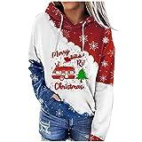 Berimaterry sudaderas mujer otoño con estampado de Navidad moda blusa casual de manga larga top originales Jerséis baratos ropa de Christmas para mujer hoodies chándal otoño mujer jersey deporte
