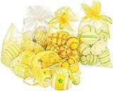 GRANDI COLORI: i bellissimi motivi delle uova di Pasqua decorative creano un'atmosfera allegra, calda e accogliente per la Pasqua! DECORATIVO: la bella decorazione pasquale è l'ideale per decorare il giardino, il balcone o il bouquet pasquale nell'ap...