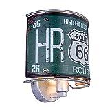 depot8 Route66 - Lámpara de pared (metal), diseño antiguo, color plateado