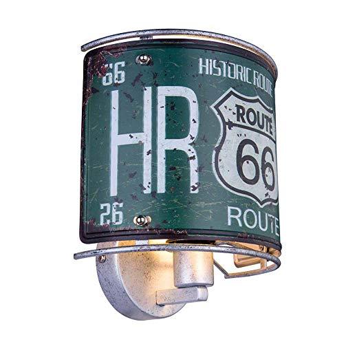 RETRO Wand Lampe Wohn Zimmer USA Nummernschild Beleuchtung Route 66 Dekor Leuchte Globo 15396W