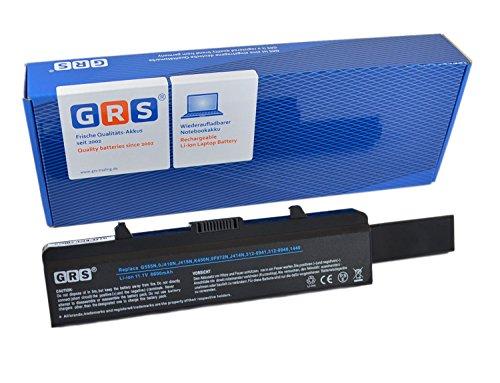 GRS Batterie avec 6600mAh pour Dell Inspiron 1750, 1440, remplacé: K450N, 0F972N, 312-0941, J414N, 312-0940, J415N, Laptop Batterie 6600mAh, 11.1V