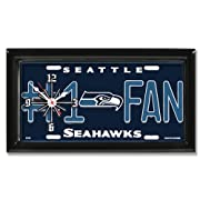 NFL Football #1 Fan Team Logo License Plate made Clock Available in ALL NFL Teams
