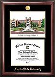 Campus Images 'Florida Estado Universidad en Relieve Diploma Marco con Litografía de impresión, 11'x 14', Oro