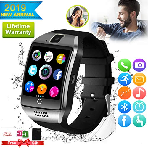 Bluetooth smartwatch touchscreen camera waterdicht smart horloge sport smart watch met Whatsapp bluetooth horloge mobiele telefoon intelligent polshorloge compatibel met IOS iPhone Android Samsung Huawei voor heren dames