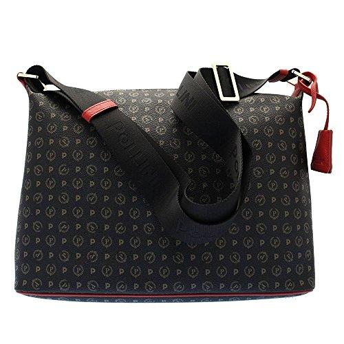 Pollini heritage shoulder bag Tapiro Pvc black red