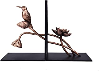 ZHUANYIYI Decorative Bookends,Ambipolar Decorative Bird Theme Bookend,Heavy Duty Cast Iron,Vintage Shelf Decor,for Home/Of...