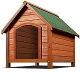 XXL Doghouse Doghouse Dog Real Wood zura solidoa eguraldiaren argizaria teilatua teilatua 82cm x 72cm x 85cm