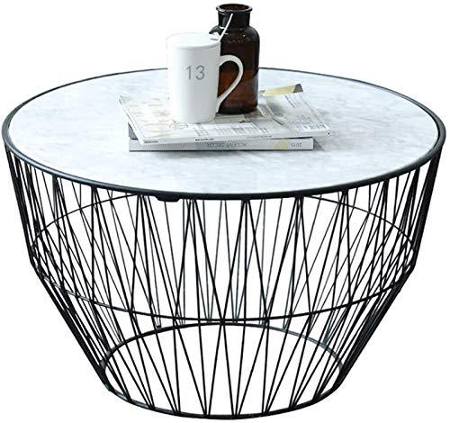 KKY-Enter 27.6'Designer Semplice tavolino da caffè in Ferro battuto in Ferro battuto Piccolo Appartamento Soggiorno tavolino Rotondo tavolino Nordico Laterale