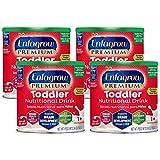 Enfagrow PREMIUM Toddler Nutritional Drink, Vanilla Flavor, Omega-3 DHA & MGFM for Brain Support, Prebiotics & Vitamins for Immune Health, Non-GMO, Powder Can, 24 Oz (Pack of 4)