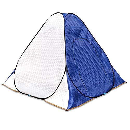 LOY Tragbares Winter-Fischen-Pop-up-Zelt, regendichter kampierender Eisfisch-Schutz Oxfords mit zusammengesetzter Baumwolle für im Freien,200 * 200 * 160cm