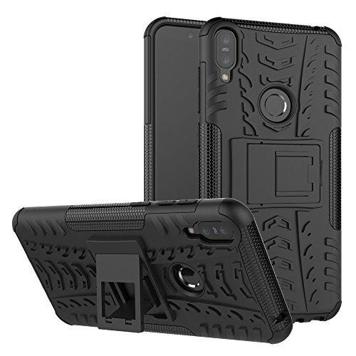 TiHen Funda ASUS Zenfone MAX Pro M1 360 Grados Protective con Pantalla de Vidrio Templado. Caso Carcasa Case Cover Skin telefonía Fundas para ASUS Zenfone MAX Pro M1 ZB601 602KL - Negro