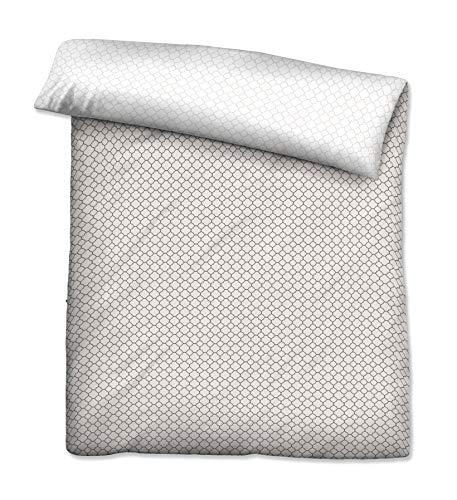 biberna 0636045 Mako-Satin Bettwäsche Mix & Match Bettbezug (Baumwolle) 1x 135x200 cm, frappé