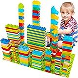 WYSWYG Grandes Bloques de construcción para niños, 230 Piezas de Bloques de construcción, compatibles con Todas Las Grandes Marcas, 8 Formas Diferentes, Juguetes Stem a Partir de 3, 4 y 5 años