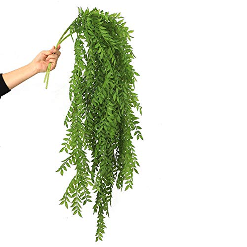 Artificial Hanging Plants,Fake Plants Ivy Vine,Fake Ivy Vine Fake Ivy Leaves,Hanging Ivy Decor Plastic Greenery for Wall Indoor Outdoor Hanging Baskets