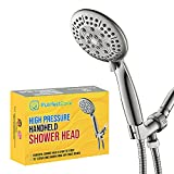"""Purrfectzone High Pressure 4.7' Brushed Nickel Hand Held Shower Head with Extra Long 79"""" Hose and Adjustable Bracket, Handheld Showerhead Sprayer includes Massage Spa for Ultimate Shower Experience"""