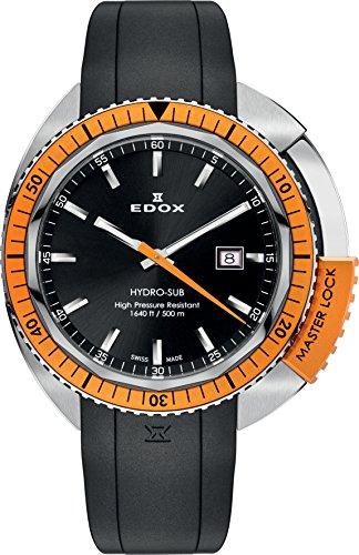 EDOX Orologio Analogico Quarzo Unisex con Cinturino in Gomma 53200 3OCA NIN