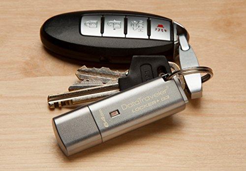 Kingston Data Traveler Locker + G3 (DTLPG3/8GB) USB 3.0 Schutz persönlicher Daten und automatisches Cloud-Backup