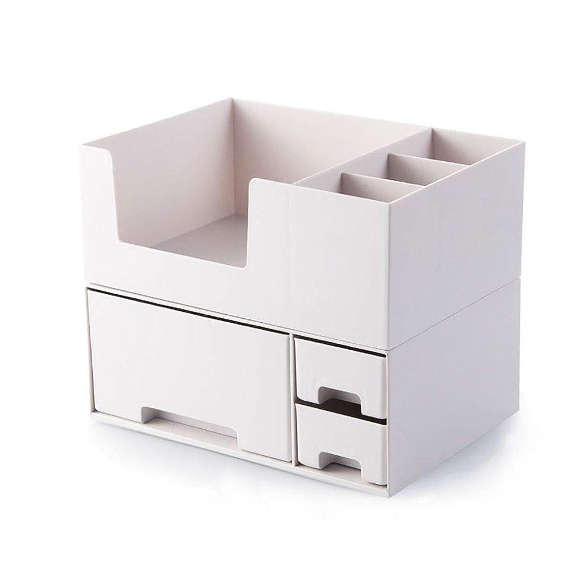 ノイズ起点眉LDG メイクケース 多機能 3引き出し プラスチック アクセサリ スキンケア用品 化粧品収納ボックス (色 : B)