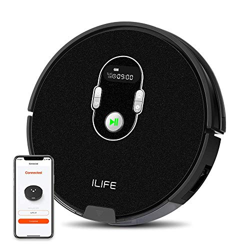 ILIFE A7 Robotic Vacuum Cleaner with High Suction, LCD Display, Multi-Task Schedule, Path Mode and Dual Roller Brushes for Hard Floor and Thin Carpets (Renewed) Dining Features Kitchen Robotic Vacuums