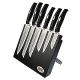 BEEM Hanshu-Do Master, 7-tlg. Messerset mit Block, schwarz