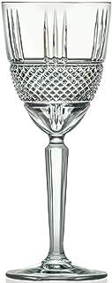 6 Verres à Vin en Cristal - Service Diamant (29 cl) - Maison Klein - Artisan du Cristal - Coffret Cadeau - Estampillé : Kl...