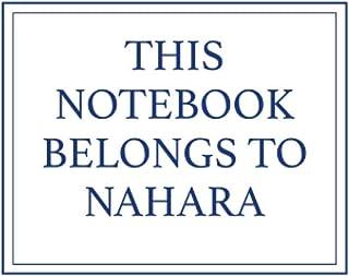 This Notebook Belongs to Nahara
