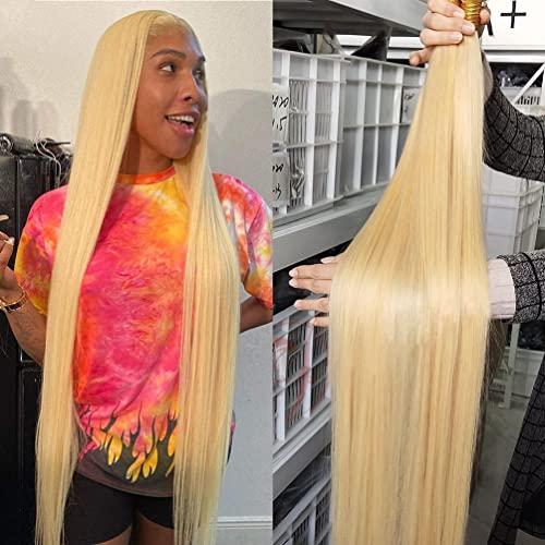 Ayisha Hair 613 Straight Human Hair Bundles Blonde Human Hair Weave Bundles 9A Unprocessed Double Weft Brazilian Virgin Remy Hair 613 Blonde 3 Bundles Deals 613 Straight Hair Extensions Bundles