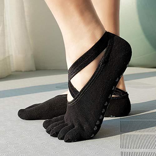 JKCTOPHOME Calcetines separadores,Yoga elástico Transpirable de Secado rápido-Negro Bag_Code,Aliviar Los Pies Dolor