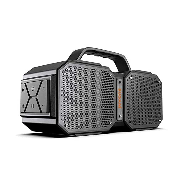 Bluetooth Speakers, M83 Portable Bluetooth Speakers 5.0, 40W Super Power, Rich Woofer, Stereo Loud. Suitable for Family Gatherings and Outdoor Travel. (Black) 3