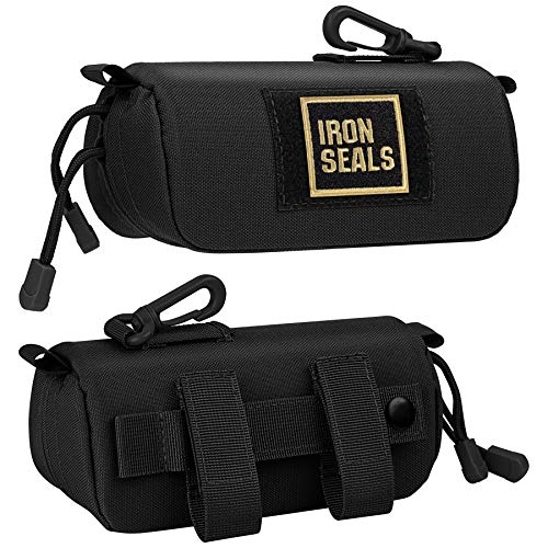 IronSeals Extra Large Tactical Molle Sunglasses Case Oversized Anti-Shock Hard Clamshell Glasses Case, X-Large