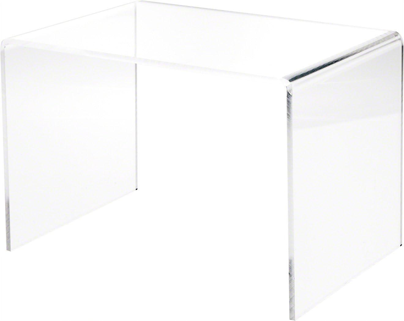 Plymor Clear Acrylic Rectangular Display Riser Height inch Dallas Mall x Max 67% OFF 8