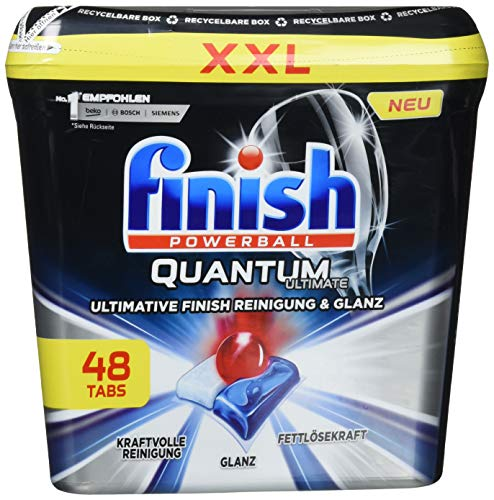 Finish Quantum Ultimate - Pastillas para lavavajillas, pack XXL, 48 pastillas