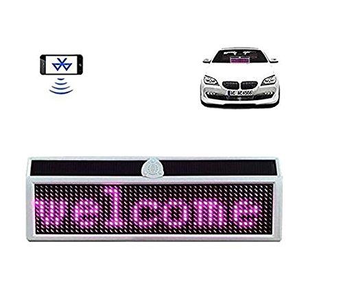 Nuevo letrero del coche LED de energía solar Bluetooth LED del coche