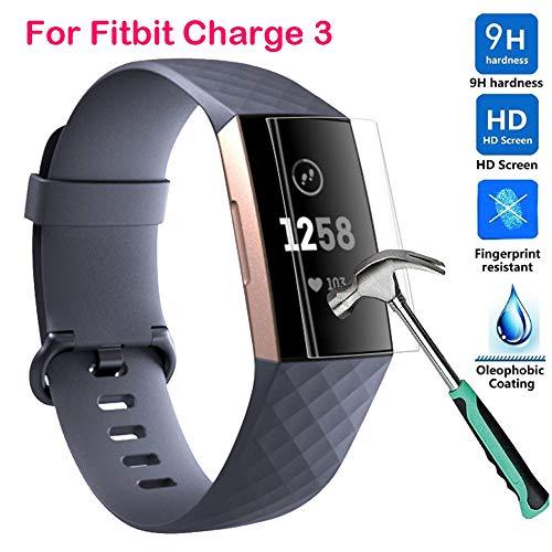 Colorful Für Fitbit Charge 3 Schutzfolie【2 Stück】, HD Ultradünn 9H Härte Schutzfilm TPU Volldeckung Displayschutzfolie für Fitbit Charge 3