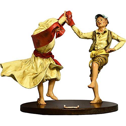 Arte Sacra di Claudio Riso - Een paar dansers van Pizzica. Papier-maché en terracotta beeld