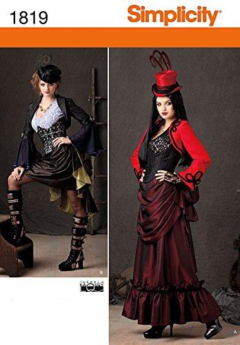 Simplicity Ladies Sewing Pattern 1819 Victorian Era Steam Punk Costumes