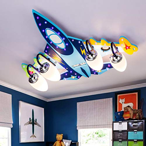 Vier Flugzeuge Kinderzimmer Deckenlampe Schlafzimmerlampe kreative Persönlichkeit Wohnzimmerbeleuchtung LED-Beleuchtung Lampen Augen Cartoon Jungen und Mädchen